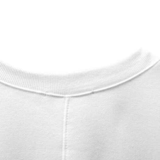 V-NECK BACK DRAPED SWEATSHIRT