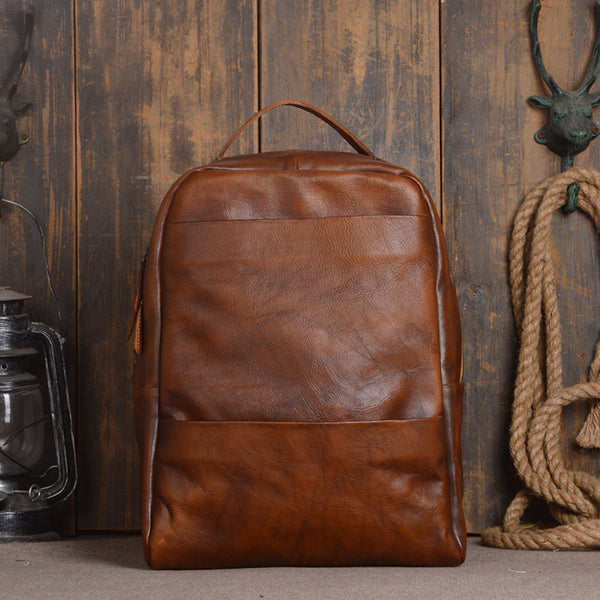 Vintage Leather Backpack Purse, College Backpacks, School Backpacks