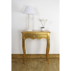 Leona Gold Lamp Table