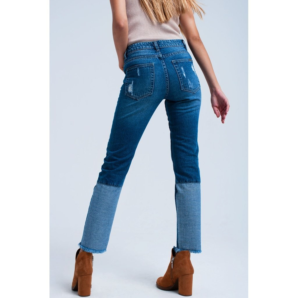 Worn straight jeans CoolHatcher at TheArtOfLiving.Earth