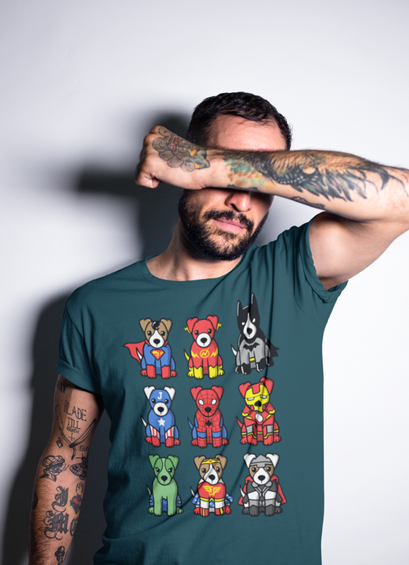 Super Heroes Dogs T-shirt CoolHatcher at TheArtOfLiving.Earth