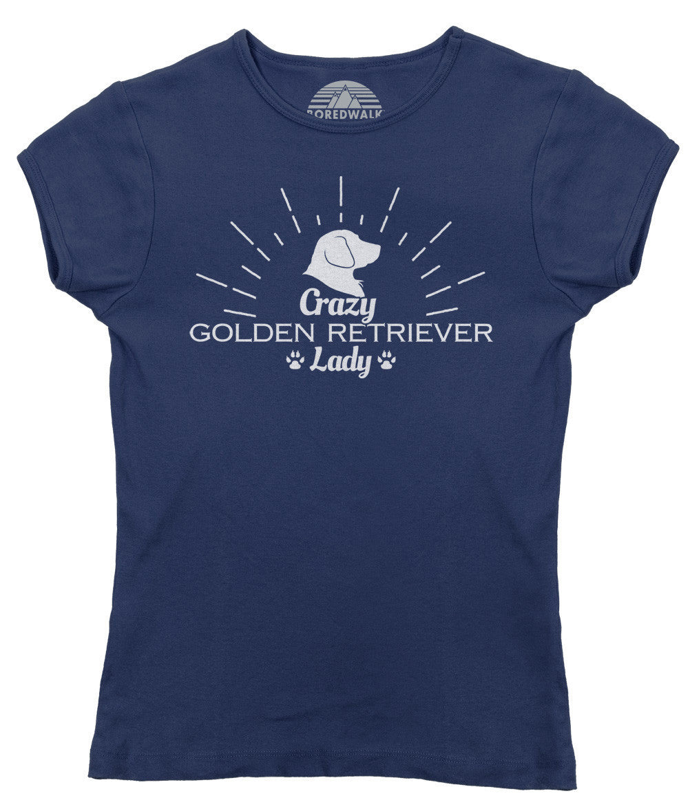 Women's Crazy Golden Retriever Lady T-Shirt