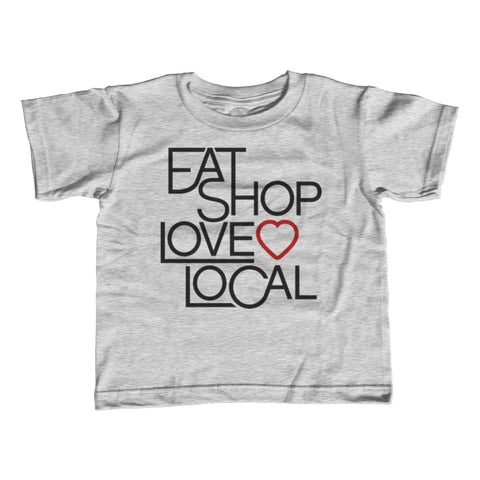 Boy's Love Shop Eat Local T-Shirt