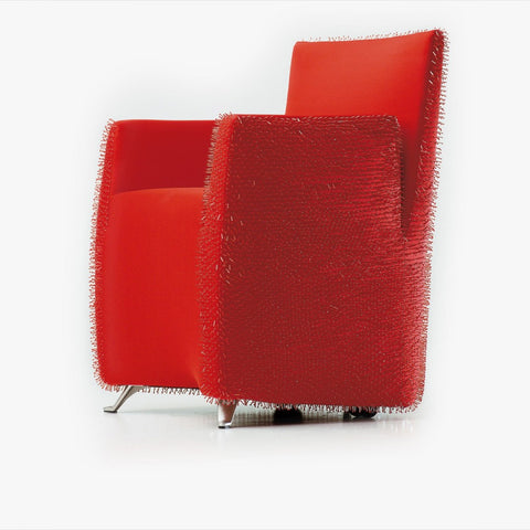 Aura Armchair, Red Pearls
