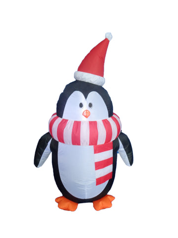 4 Foot Christmas Inflatable Penguin with Christmas Hat and Scarf