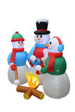 5 Foot Tall Snowmen with Friends Campfire Roasting Marshmallows Christmas Inflatable