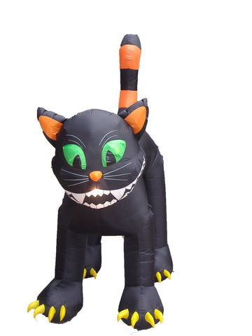 11 Foot Animated Black Cat