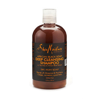Shea Moisture - African Black Soap - Deep Cleansing Shampoo w/ Tea Tree & Willow Bark Extract