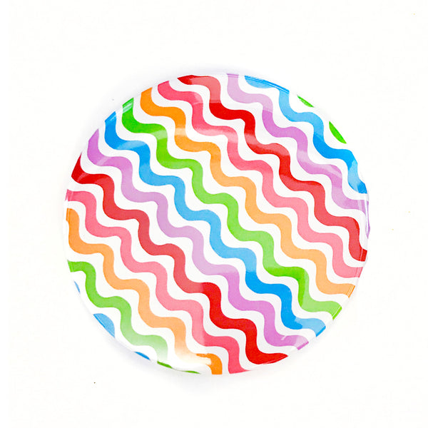 "Rainbow Squiggle 3"" Travel Mirror"