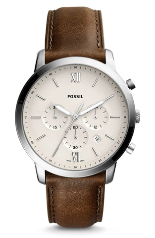 Fossil Neutra Chronograph Watch with brown leather strap. Shop Bennetts for the brands you want at a great price.