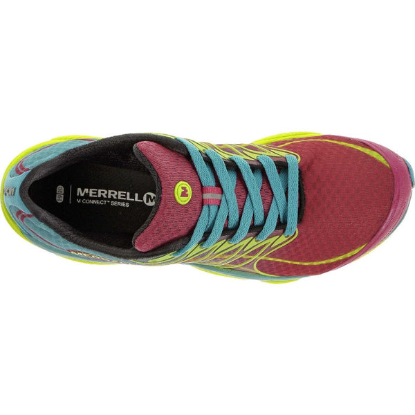 Merrell Women's All Out Flash Trail Running Shoe-Wine-Lime - Bennett's Clothing - 3
