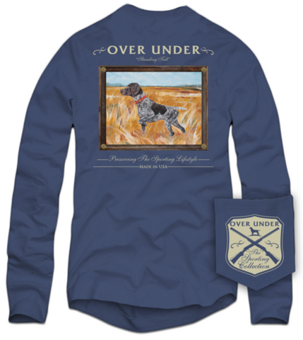 Over Under Standing Tall Long Sleeve T-Shirt-Navy