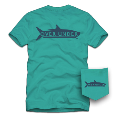 Over Under Poling Tarpon T-Shirt-Seafoam