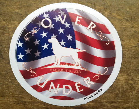 Over Under USA Decal - Bennett's Clothing
