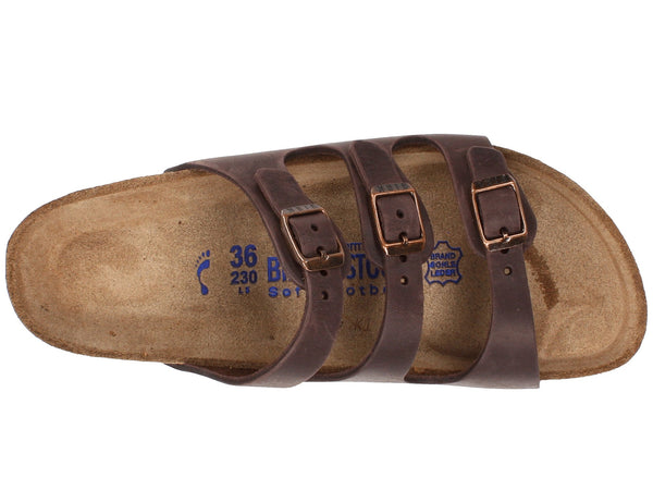 Birkenstock Women's Florida Soft Footbed Sandal-Habana Waxy Leather - Bennett's Clothing - 6