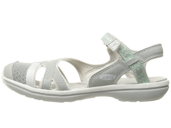 KEEN Womens Sage Ankle Sandal-Neutral Gray/Malachite