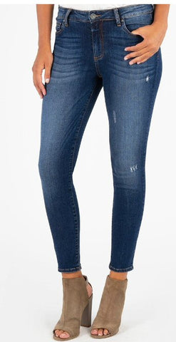 Kut from the Kloth Donna High Rise Ankle Skinny Jean-Grand Dark Stonewash