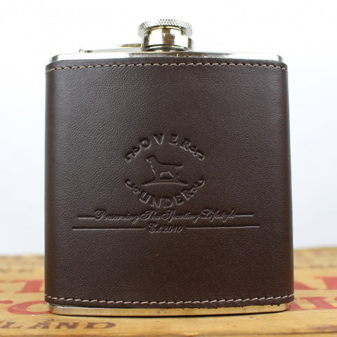 Over Under Logo Leather Flask - Bennett's Clothing - 1