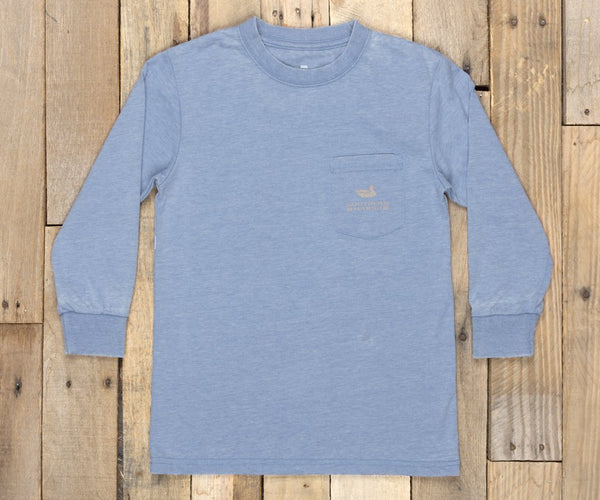 Southern Marsh Youth Seawash Paddle Long Sleeve T-shirt-Washed Blue