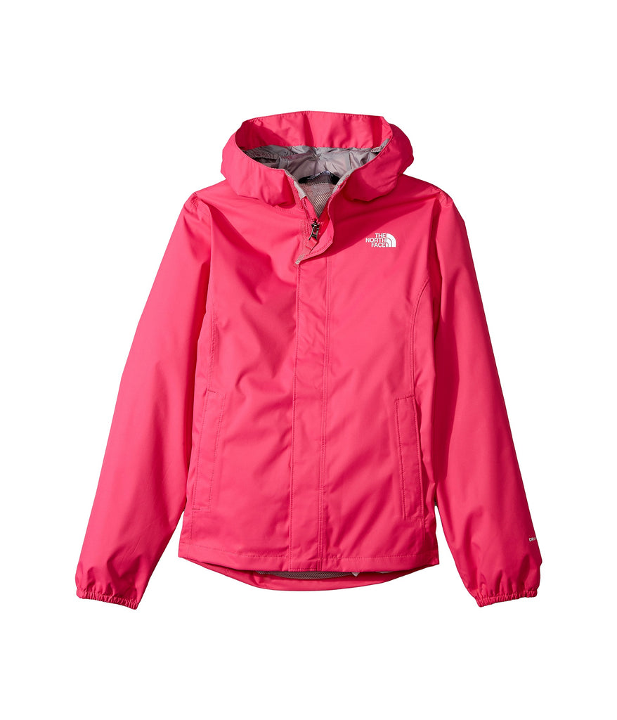 The North Face Girls Resolve Reflective Rain Jacket-Petticoat Pink