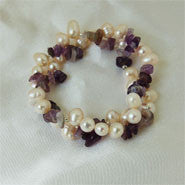 Pearls and Gemstone Bracelet (9 Colors to choose)