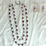 "44"" Pearl and Gemstone Pearl Necklace (10 Colors to choose)"