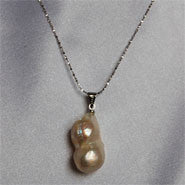 Baroque Pearl Pendant on Sterling Silver chain