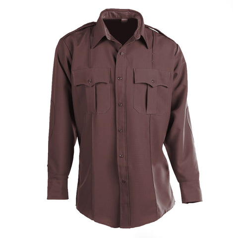 Flying Cross Brown Long Sleeve Uniform Shirt