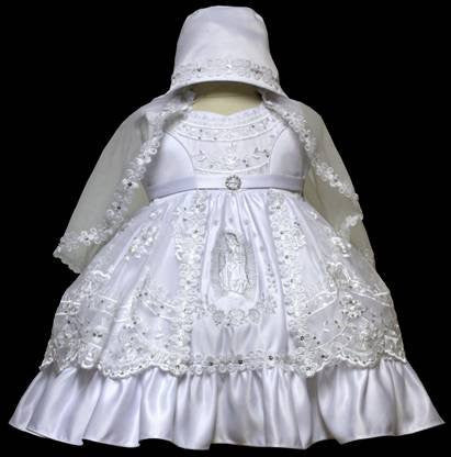 Baby Girl Toddler Christening Baptism Dress Gowns outfit set with bonnet /XS/S/M/L/XL/0-3M/3-6M/6-12M/12-18M/18-24M/XSMALL/SMALL/MEDIUM/LARGE/XL/2t/#5602 - myfamilystore