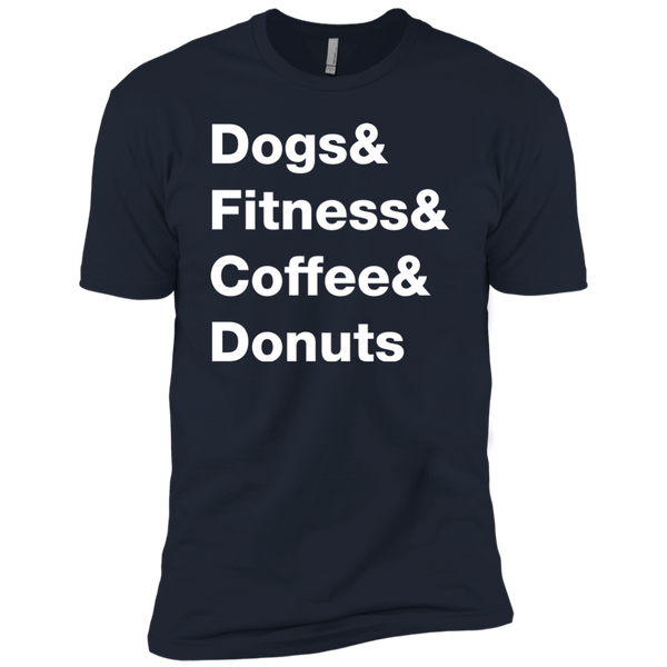 Dogs & Fitness & Coffee & Donuts Men's T-Shirt