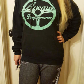 Avenue Performance Steering Wheel Hoodie (Black & Minty)