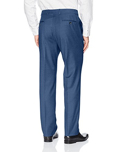 Tommy Hilfiger Men's Modern Fit Performance Suit with Stretch, Medium Blue Twill 40 Regular