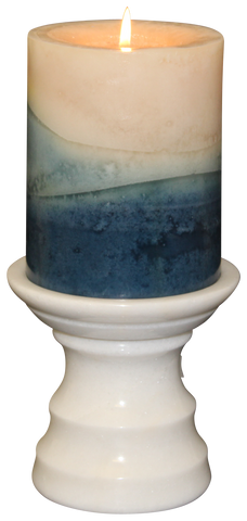 Antique White Pedestal Candle Holder - Marble Products International