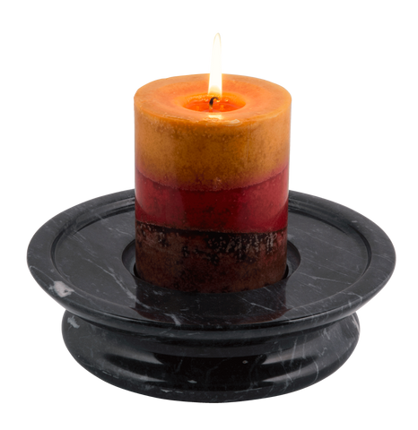 3 Tier Candle Holder - Ebony - Marble Products International