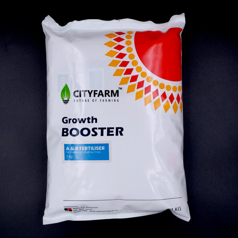 Hydroponic A & B Solid Fertilizer 2kg (For Flowering & Fruiting Crops) - CityFarm
