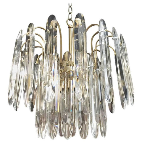 Italian Mid-Century Two-Tiered Chandelier by Gaetano Sciolari