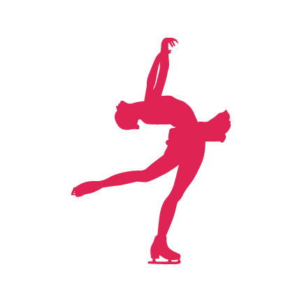 Figure Skater Decal, Layback