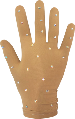 Chloe Noel Fitted Gloves With Crystals