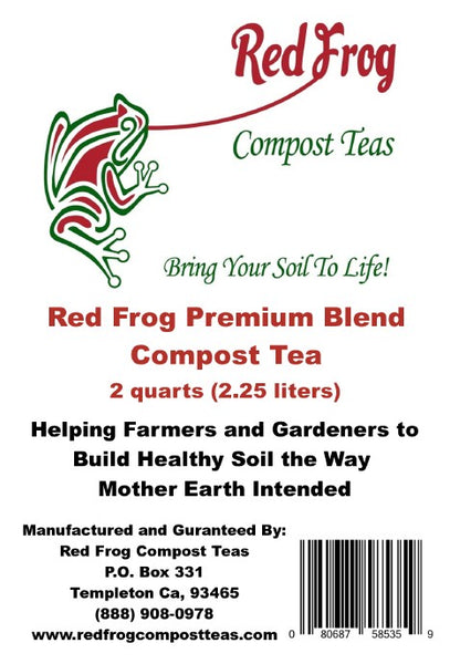 12 4 lb Bags of Red Frog Compost Teas Premium Blend Compost Teas