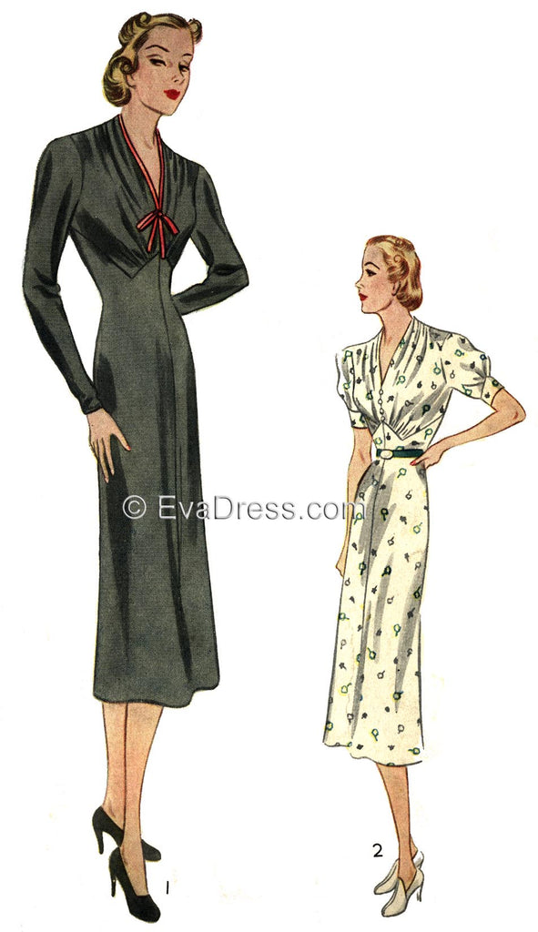 Pattern Tour, 1937 Pictorial Review Frocks D30-9079