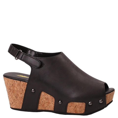 Black Piccadilly Wedges