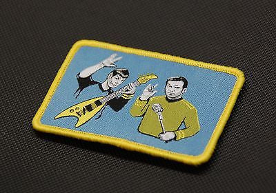 Rock Out With Your Spock Out Woven Morale Patch Star Trek