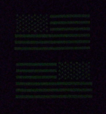 Glow In The Dark United States American Flag Patch Set
