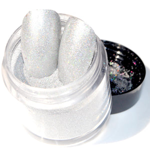 0.08mm 1 360'' Holographic Silver Nail Art Glitter Powder Small Nail Sequin Paillettes Holo Laser Powder Dust 6g N301