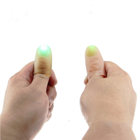 1 Pair Kids Amazing Fantastic Glow Toys Funny Novelty LED Light Flashing Fingers Magic Trick Props Children Luminous Gifts Decor
