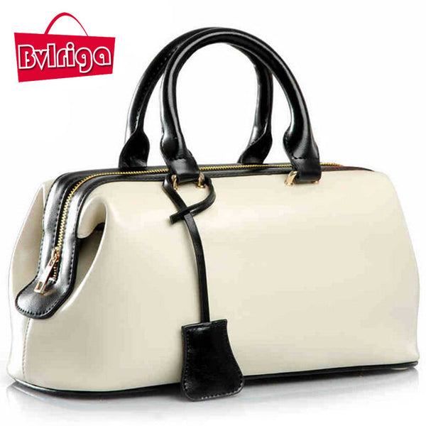 Bvlriga Solid Genuine Leather Handbags Women V8g165