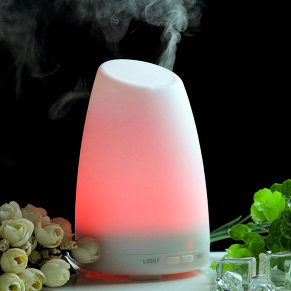 Ultrasonic Humidifier Essential Oil Diffuser Cool Mist Aromatherapy 7Color LED light for home bedroom living room study yoga