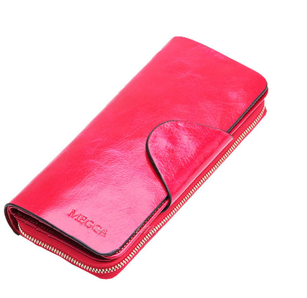 Curewe Kerien Solid Genuine Leather Wallet Women N1