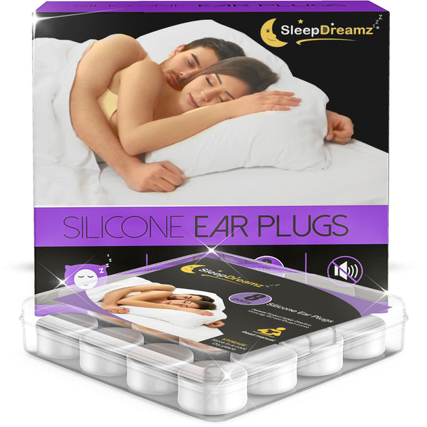 Silicone Ear Plugs For Sleeping (x8 pairs) - SleepDreamz