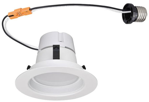 11 Watt (Replaces 65 Watt) 4-Inch Dimmable Recessed LED Downlight, ENERGY STAR, 3000K Warm White E26 (Medium) Base Socket Adapter, 120 Volt, Box